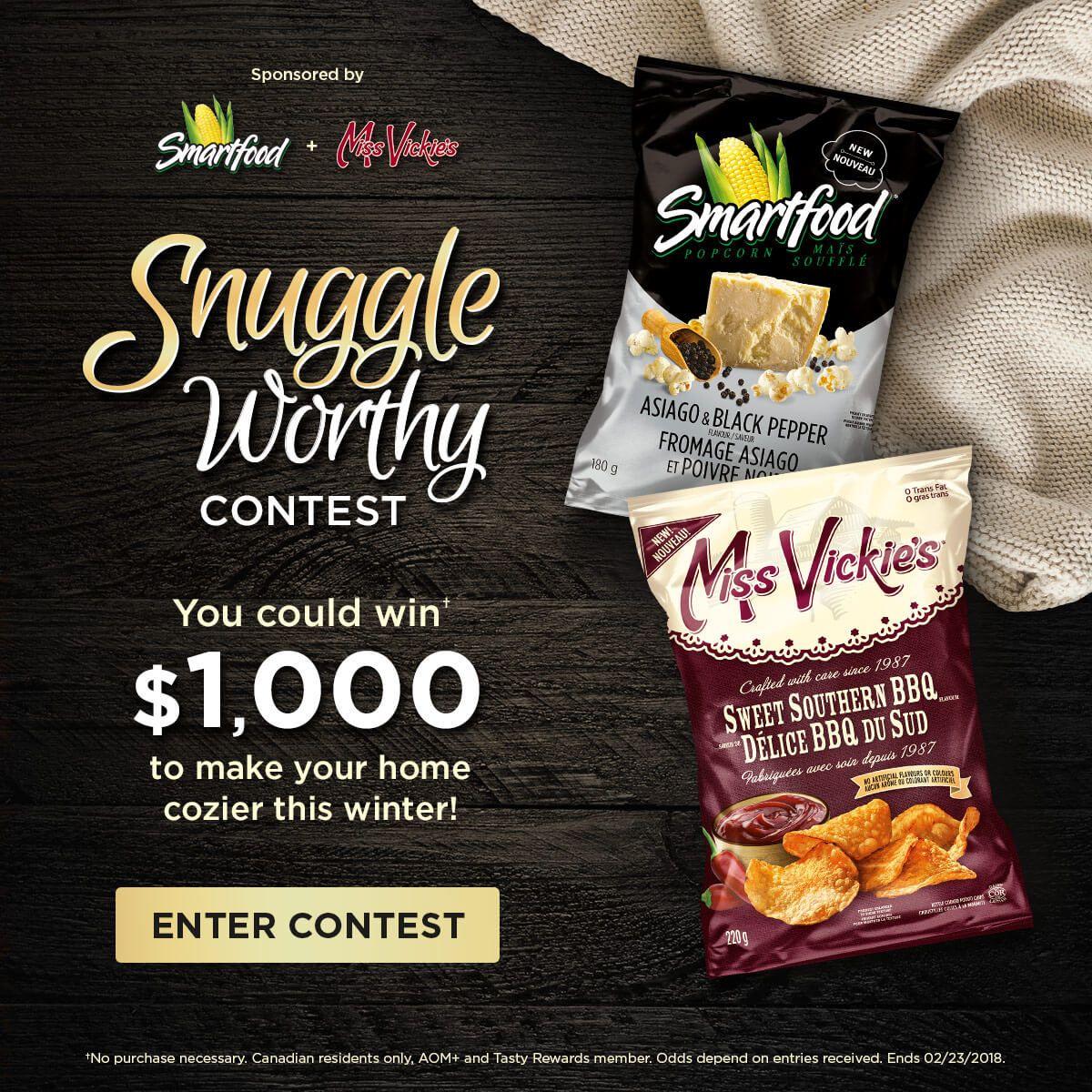 Snuggle Worthy Snacks Contest