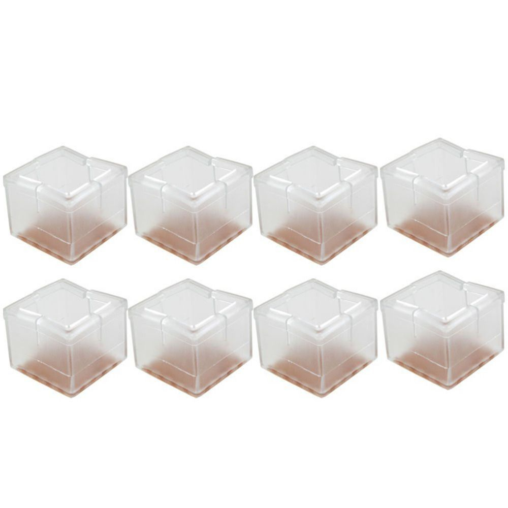 Ewish 8pcs/lot Silicone Square Chair Legs Caps Table Legs Pads 34 39mm  Furniture