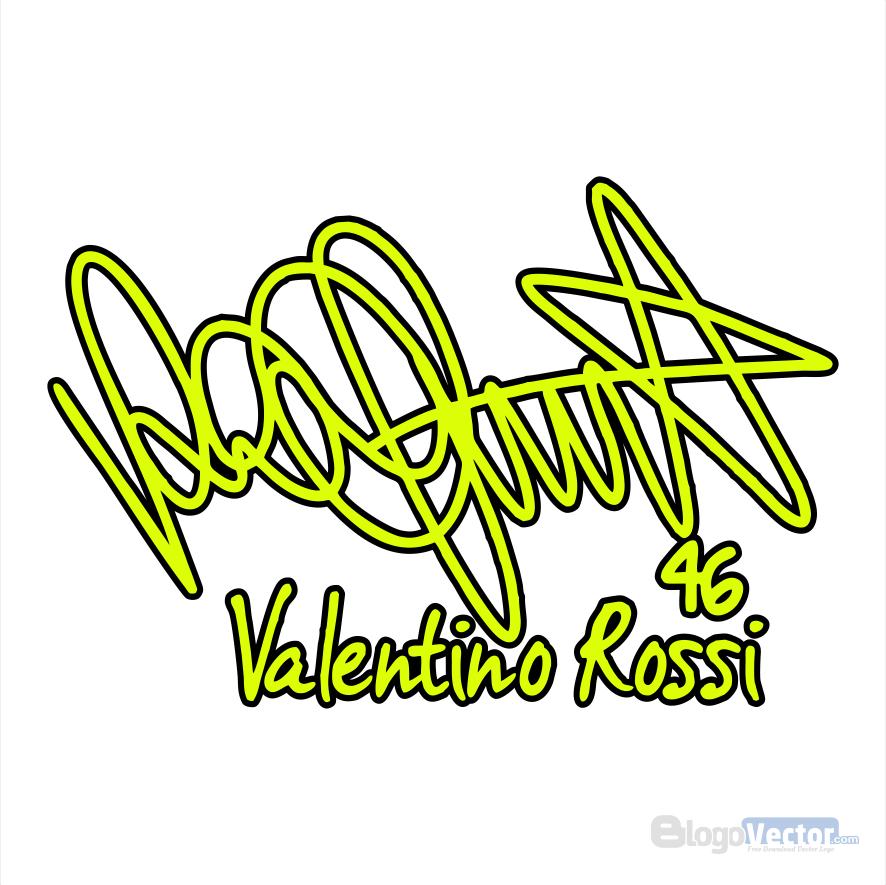 Valentino Rossi Signature Logo vector (.cdr) BlogoVector
