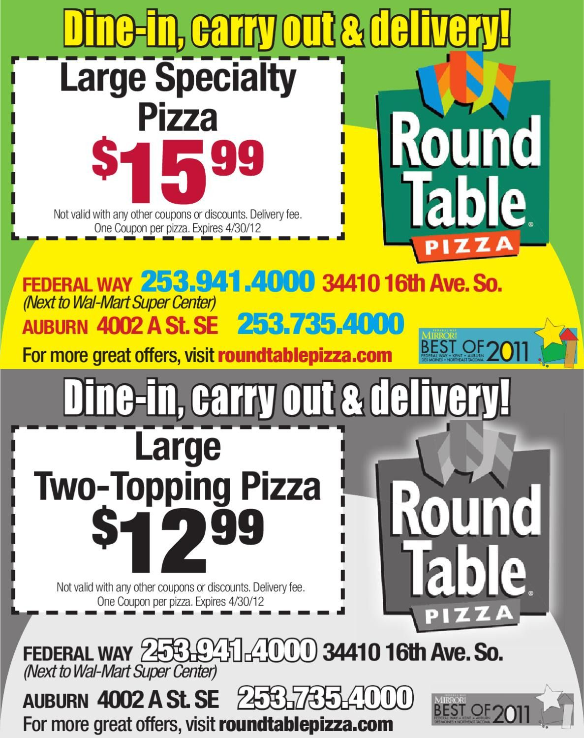 100+ Round Table Pizza Federal Way Wa   Cool Storage Furniture Check More  At Http
