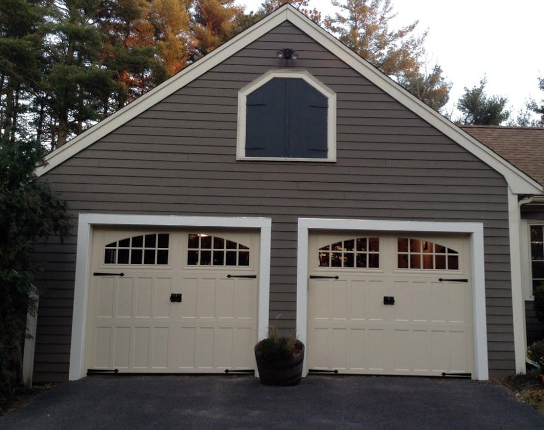Pella colesberg carriage house garage doors in duxbury ma for Carriage house garages