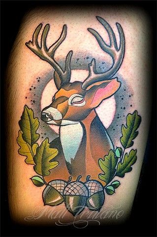 36e1899bae75d deer tattoo neo traditional - Buscar con Google | tattoos ...