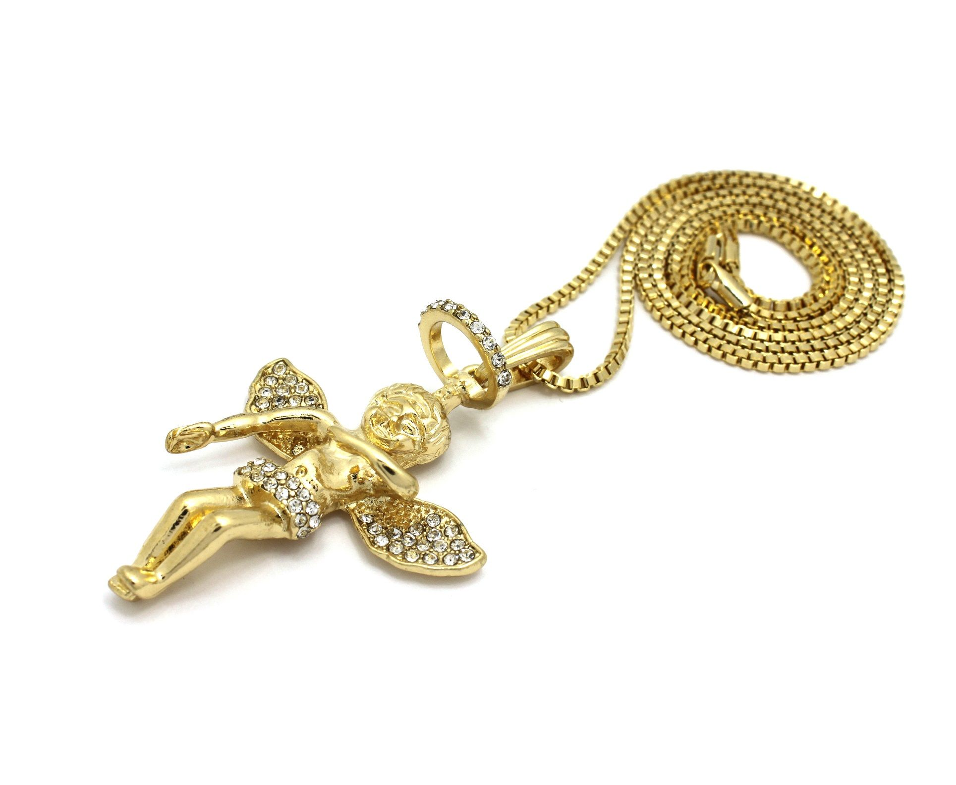 Baby angel pendant 24 chains hip hop necklaces accessory baby angel pendant 24 chains hip hop necklaces mozeypictures Gallery