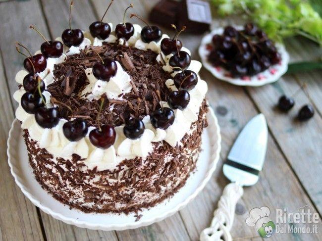 Torta Foresta Nera Ricetta Idee Alimentari Torte Ricette