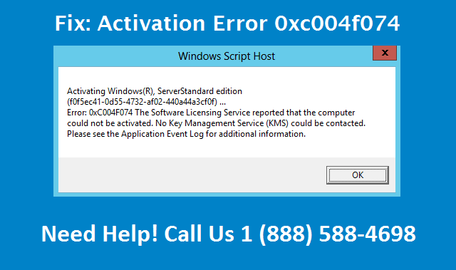 ms office 2010 activation error code 0xc004f074