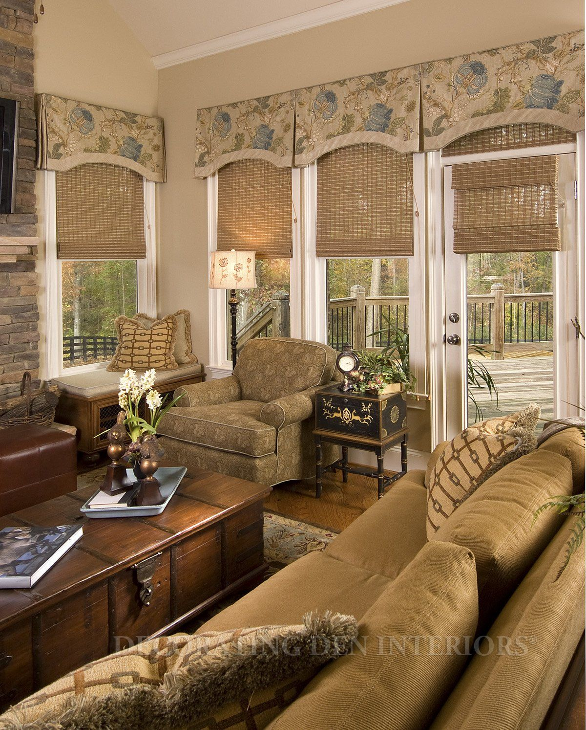 Valances Over Woven Shades Room Designed By Tracy