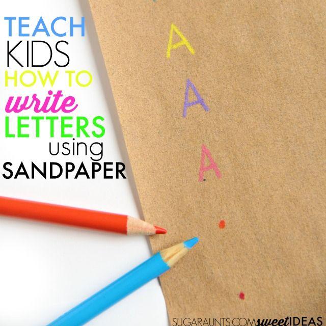 Sandpaper Letter Formation Trick  Number Formation Letter