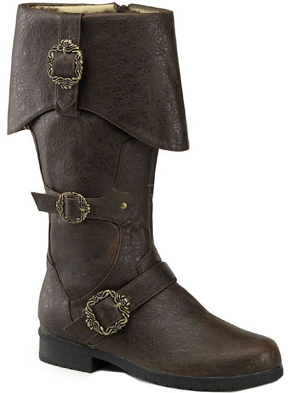 Carribean Brown Pirate Captain Boots | steampunk in 2019