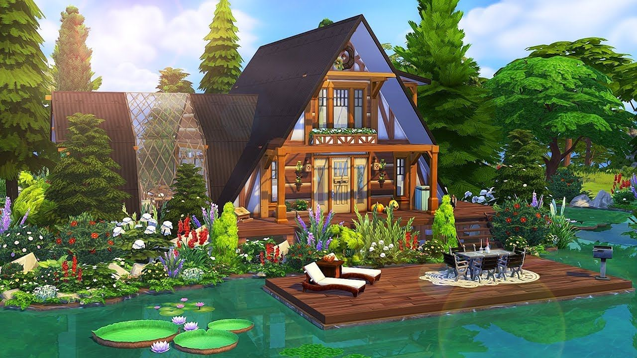 LAKESIDE A FRAME COTTAGE 🌲 The Sims 4