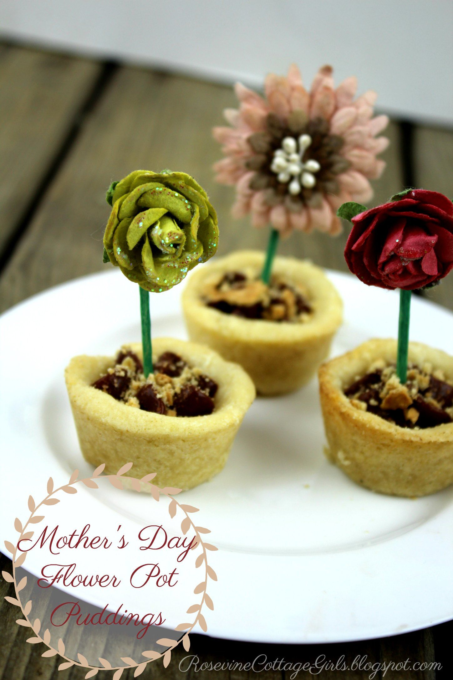 Mother's Day Flower Pot Pudding (With images) Yummy