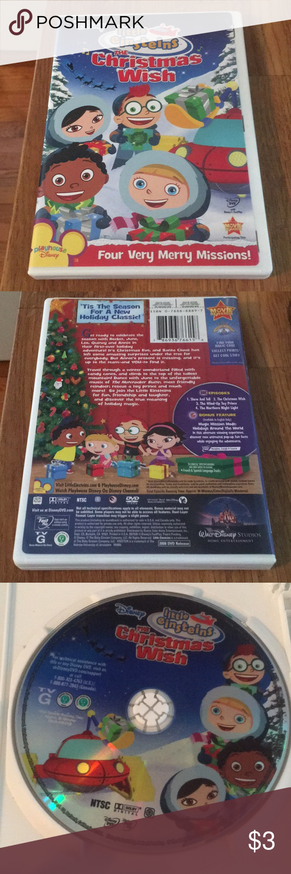 Little Einsteins The Christmas Wish Dvd Little Einsteins The Christmas Wish Dvd No Scratches 3 Or Free With Purchase Christmas Wishes Little Einsteins Merry