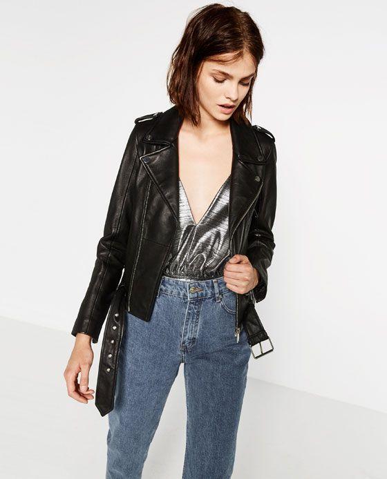 91de3e0a CAZADORA DE PIEL | Duds | Outerwear jackets, Outerwear women ...