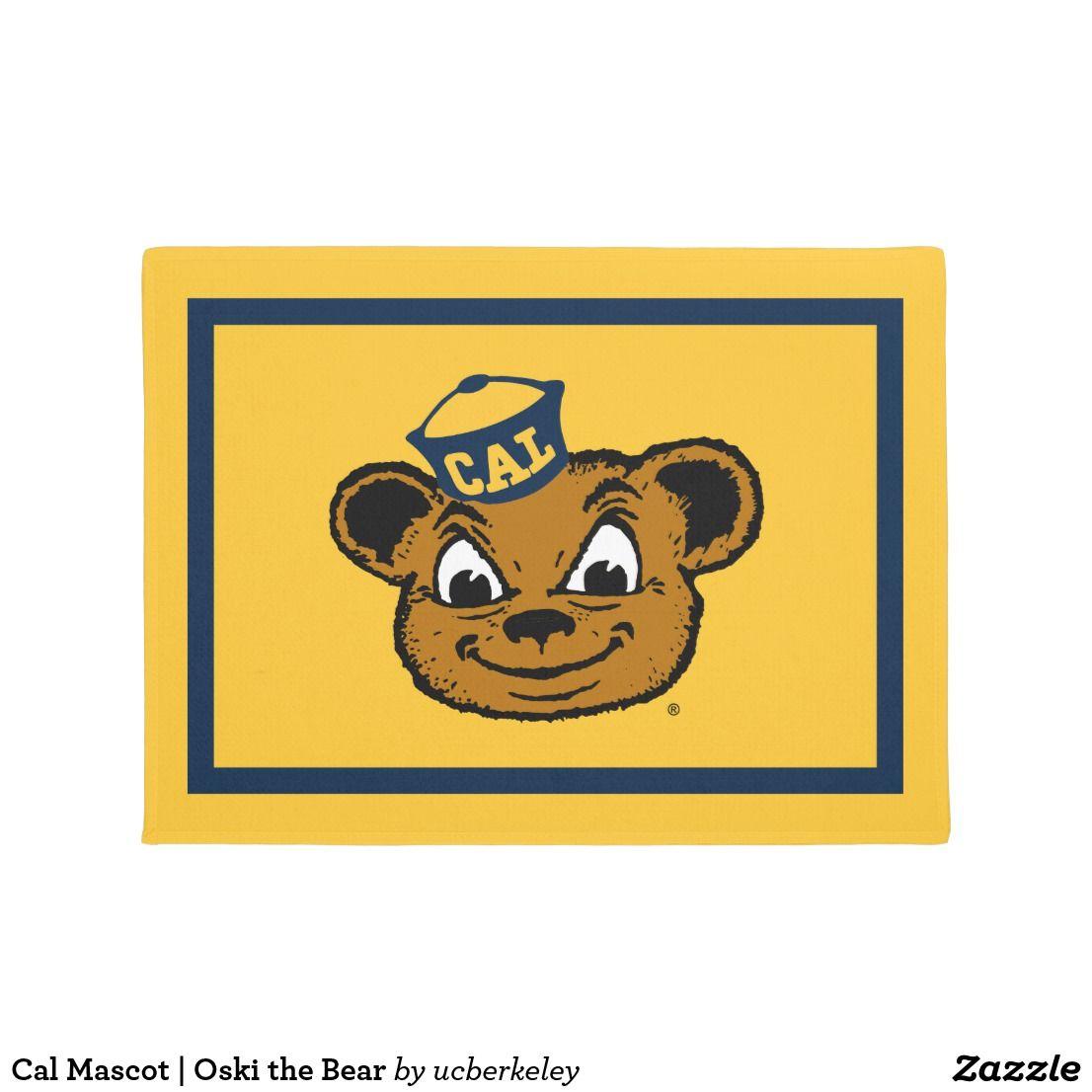 Cal Mascot Oski The Bear Doormat Zazzle Com In 2021 Personalized Door Mats Cal Bears Door Mat [ jpg ]