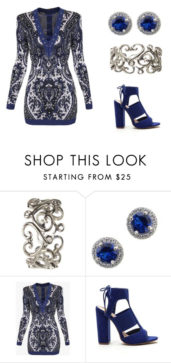 """""""Untitled #259"""" by ctpyp on Polyvore featuring Balmain and Blue"""