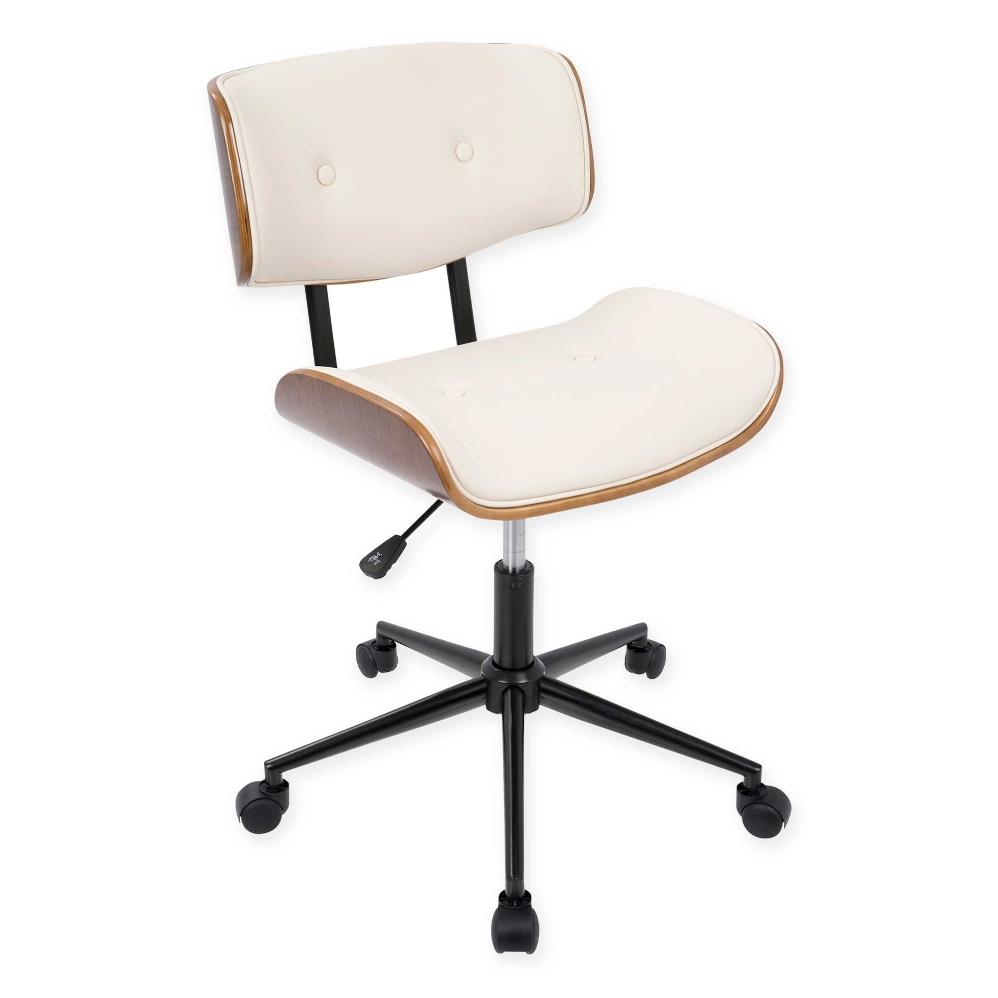 Lumisource Lombardi Mid Century Modern Office Chair Home Office