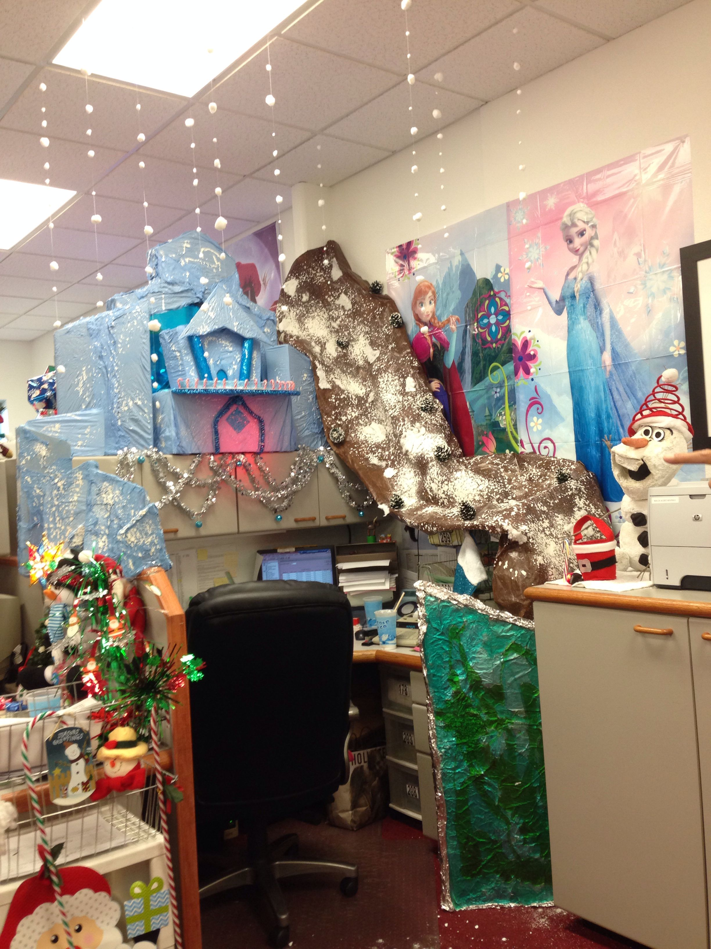My Frozen Themed Christmas Cubicle Christmas Christmas