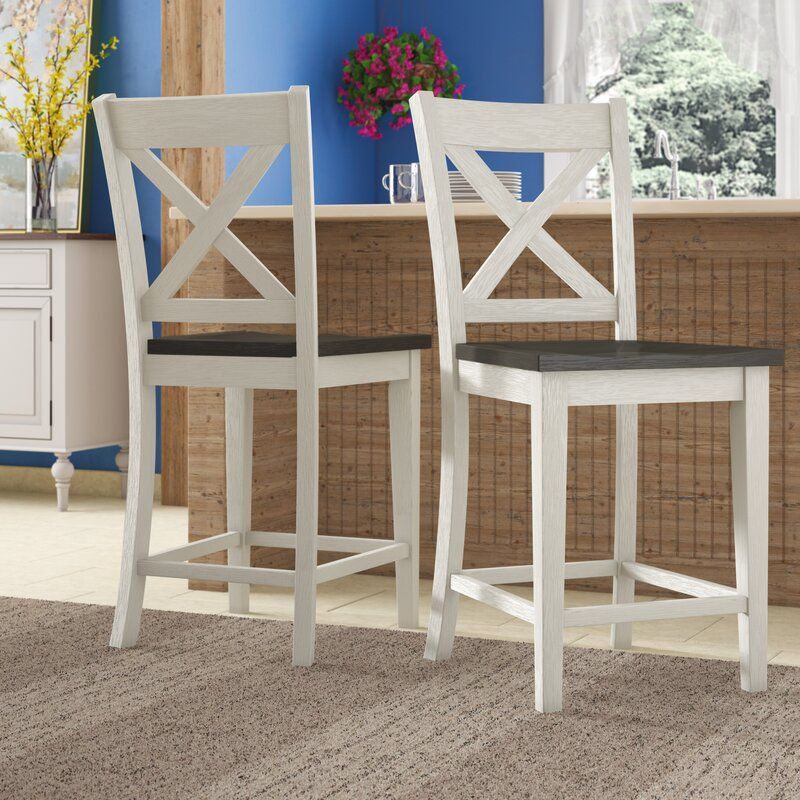 Marroquin Solid Wood 24 Counter Stool Counter Stools Stool Kitchen Counter Chairs