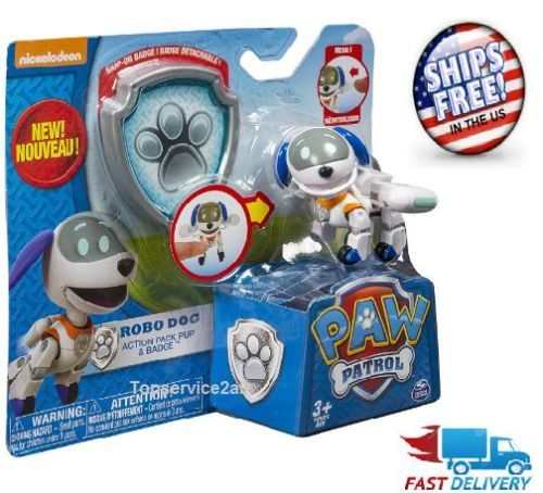 Paw Patrol Action Pack Pup Badge Dog Robodog Robo Figure Pups Toy