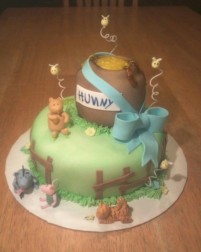Good Winnie The Pooh Baby Shower Cake By Ckiecrumb