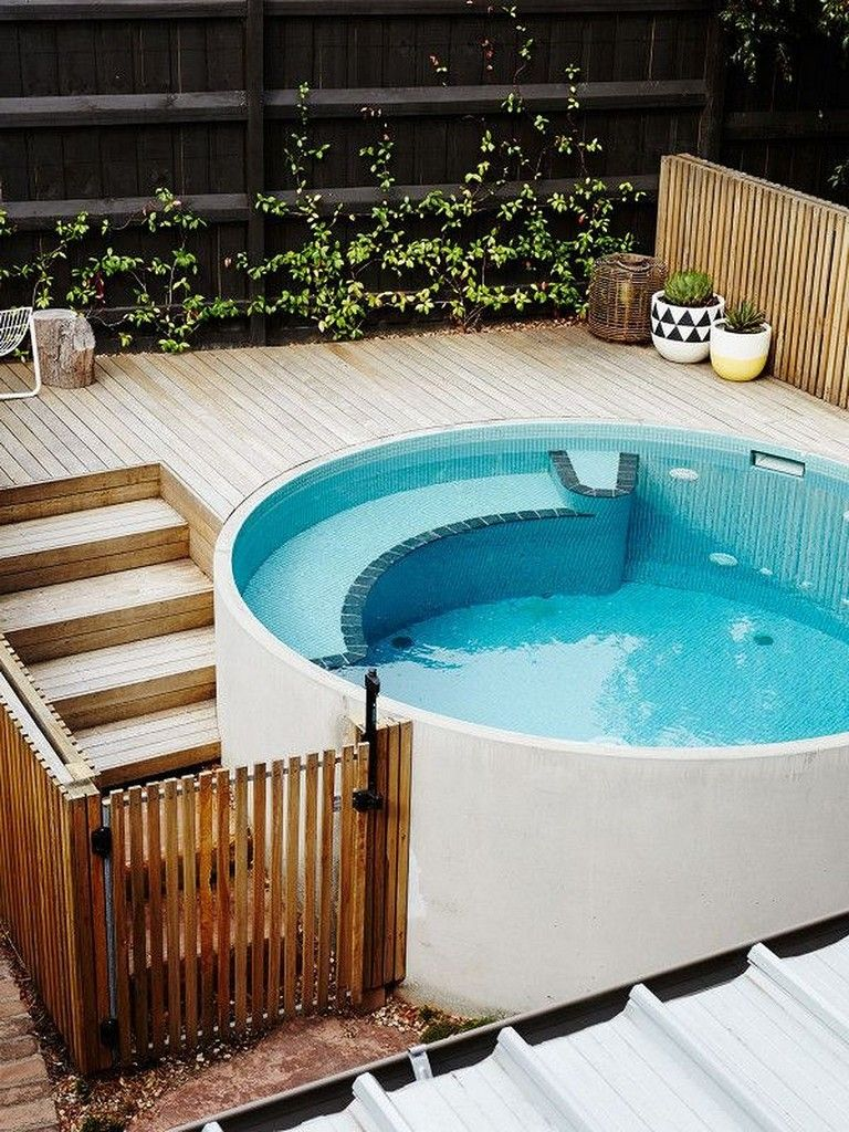 40 Exciting Small Pool Design Ideas For Your Small Yard Small Pool Design Backyard Pool Designs Swimming Pool Designs