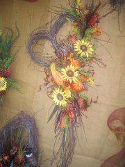 fall heart wreath for a door
