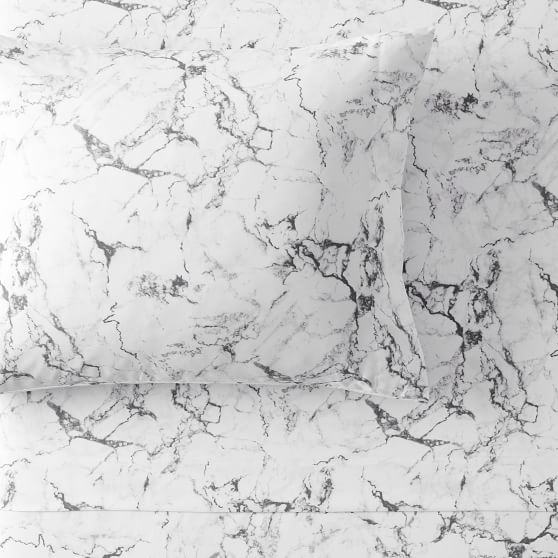 Marble Sheet Set In 2020 Marble Sheets Marble Duvet