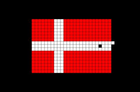 Flag Of Denmark Pixel Art Pixel Art Pixel Art Grid Flag Art