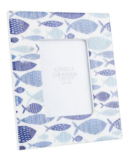 Gisela Graham Blue & White Fish Photo Frame - £10.50 - TCH | Needs ...