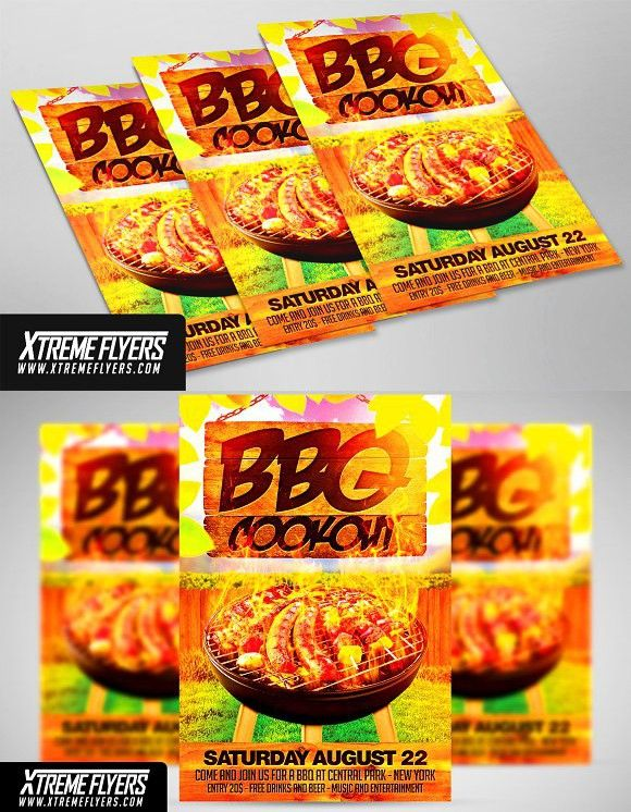 Bbq Cookout Flyer Template Flyer Template And Template