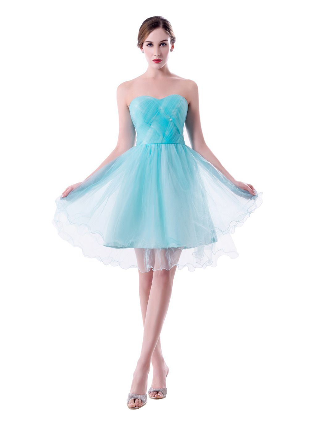 Click to buy ucuc new hot selling light blue short prom dresses a