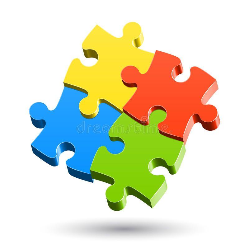 Jigsaw Puzzle Vector Illustration Of A Jigsaw Puzzle Affiliate Puzzle Jigsaw Illustration Vector A Autism Puzzle Piece Puzzle Art Clip Art Borders