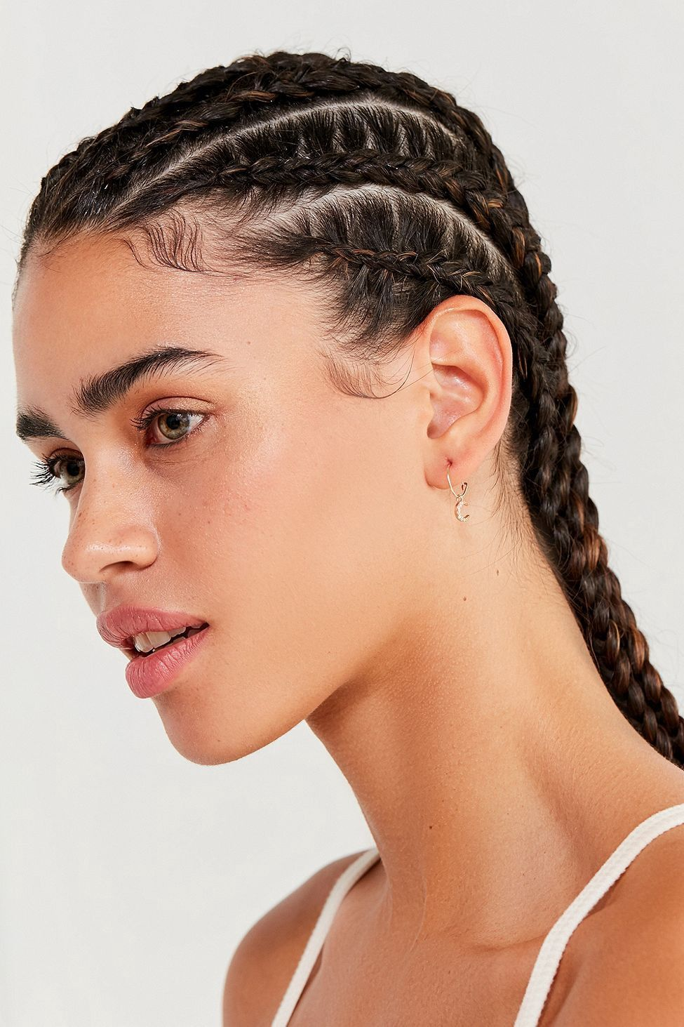 Urban Outfitters Mini Charm Hoop Earring Set Gold One Size Boxer Braids Hairstyles Hair Styles Curly Hair Styles