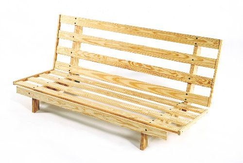 Economical Compact Futon Frame Armless Design Full Size Only Natural Unfinished Room Doctor