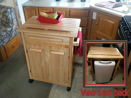 Kitchen Cart Island Storage For My Portable Washing Machine