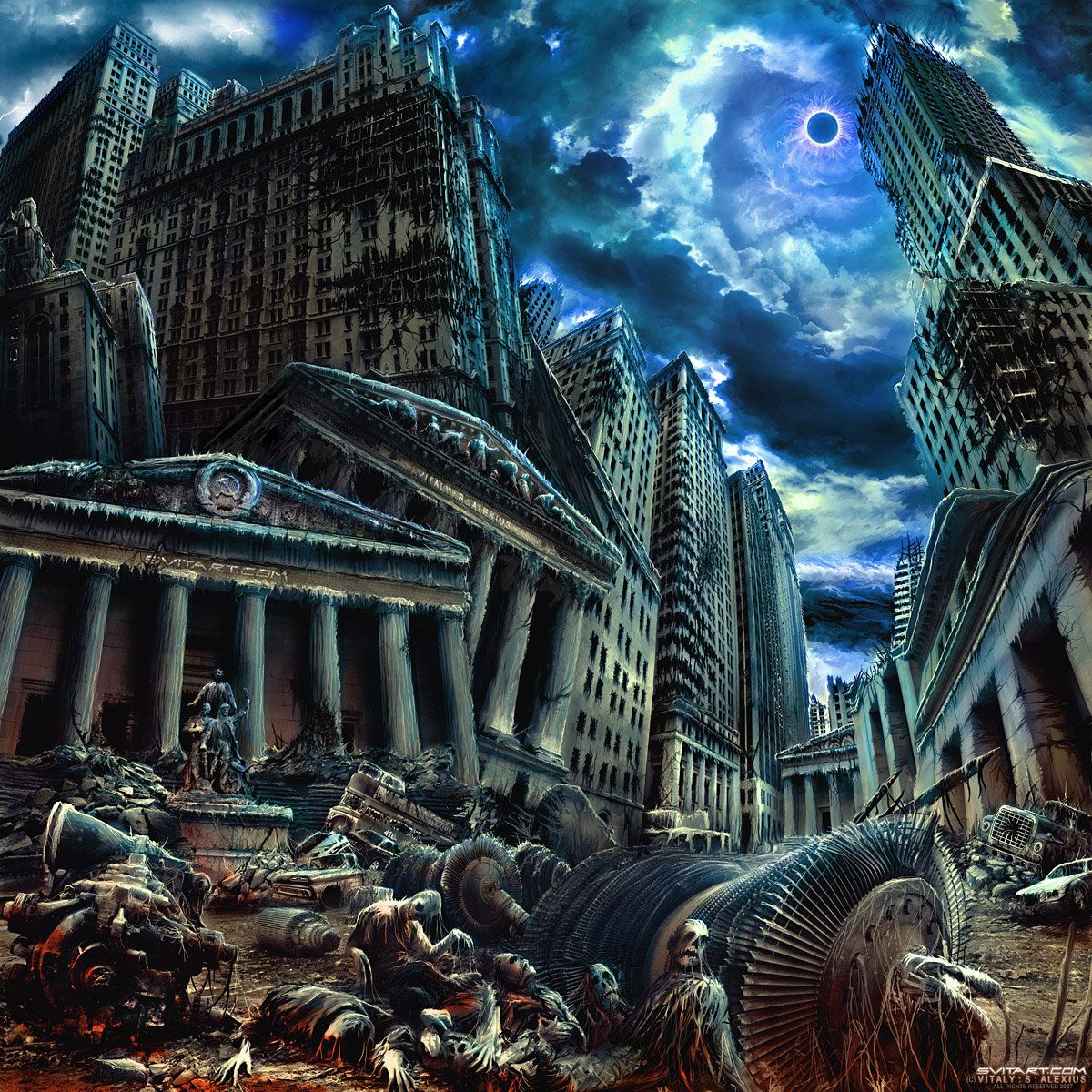 NALVAGE - Worship Dehumanization [death metal (I)] new cover art for the upcoming full lenght... --- check out the band here: cover art appearing: