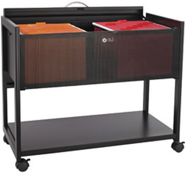 Metal Rolling Cart With Storage Bins | Rolling File Storage, Mobile File  Storage, Mesh