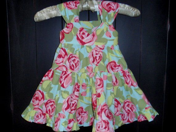 Toddler Dress Tiered and Ruffled in by Hopscotchavenue on Etsy, $38.00
