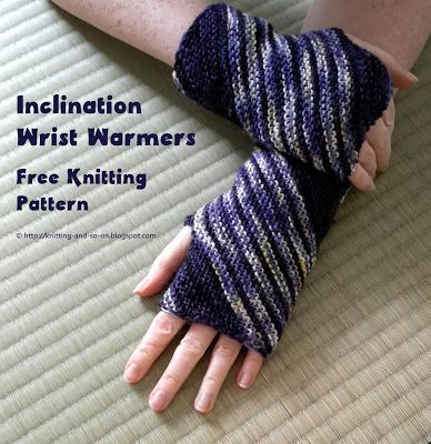 Inclination Wrist Warmers Free Knitting Pattern By Knitting And So