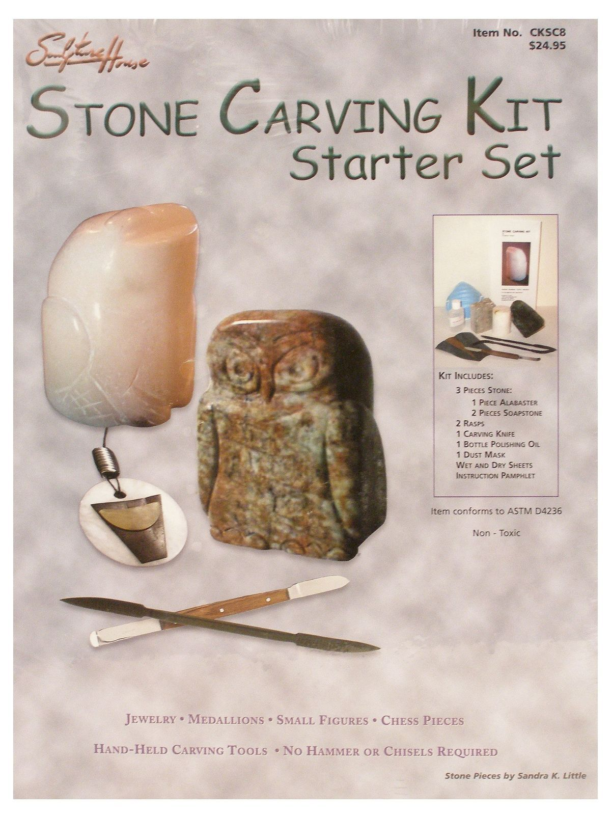Sculpture house stone carving kit starter set