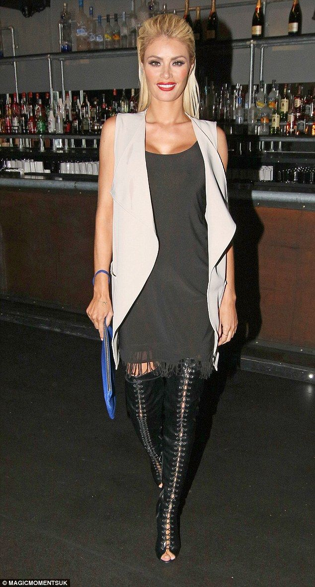 f79605cf Jess Wright and Chloe Sims dress to impress on night out in Circuit ...
