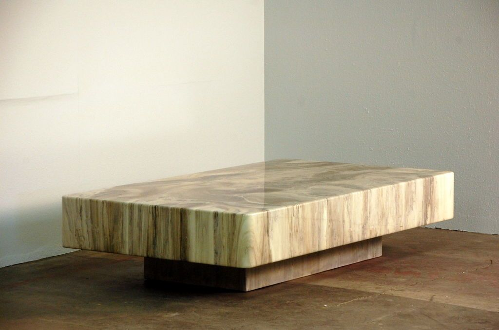 Resin coffee table by Arthur Elrod (1926-1974)