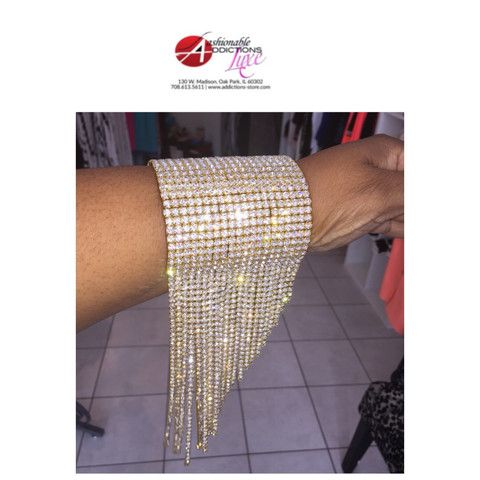 Gold cuff bracelet – addictions-store