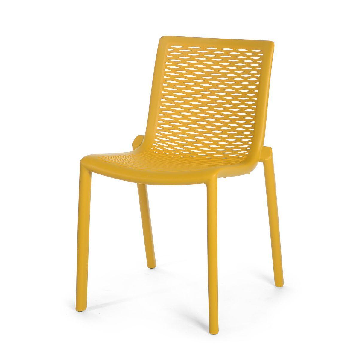 2er-Set Stuhl Kunststoff senfgelb ca H:79 cm