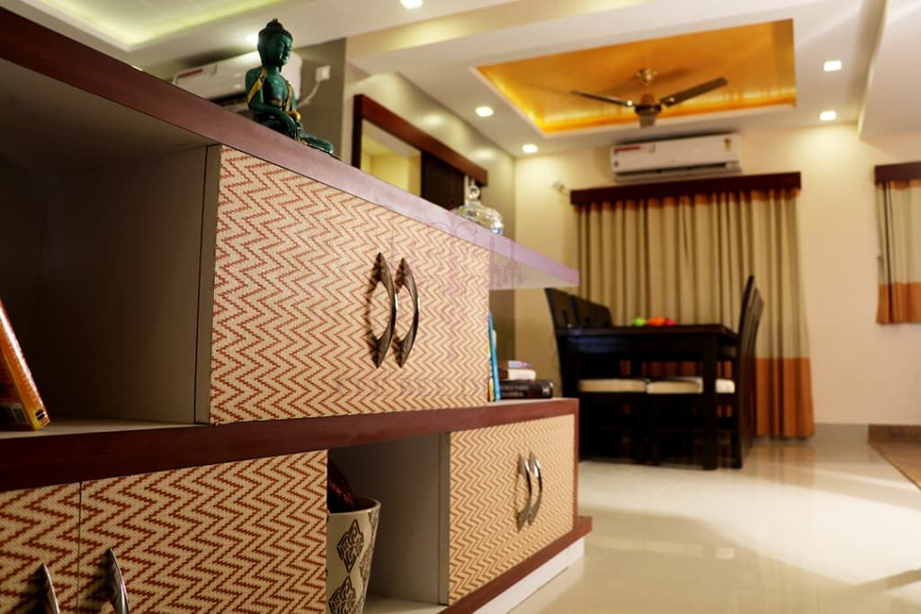 2 Bhk Apartment Of Mr Ritabrata Ray Kolkata Modern Living Room By