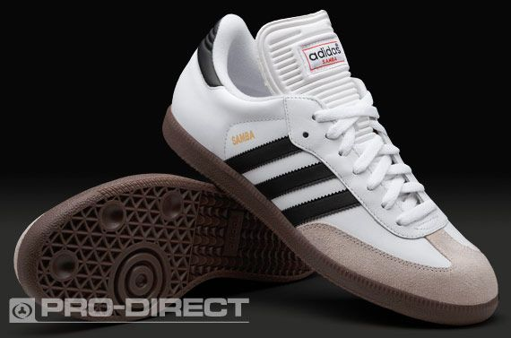 adidas Samba Classic Boots - Mens Soccer Cleats - Indoor - White