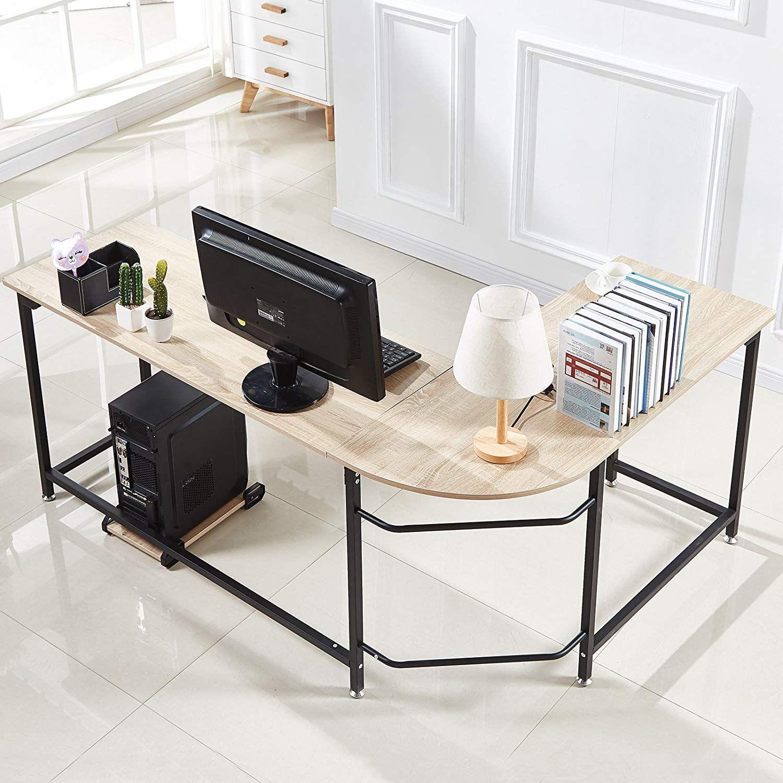 L Shaped Corner Desk Computer Workstation Home Office: Hago Modern L-Shaped Desk Corner Computer Desk Home Office