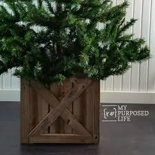 Diy Wooden Riser Box For Christmas Tree Google Search Christmas Tree Box Christmas Tree Box Stand Christmas Tree Base