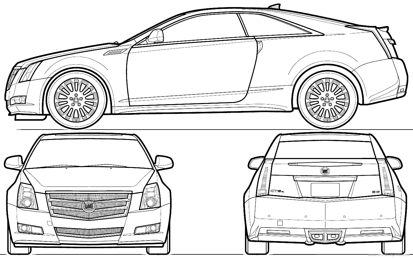 Cadillac CTS templates views | cars | Pinterest | De autos y ...