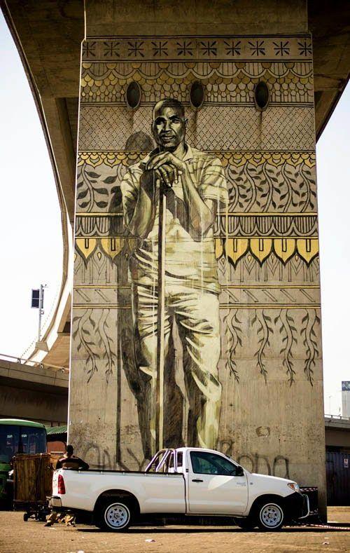 Artist :Faith47 - New piece in Durban, South Africa - 05.07.2014