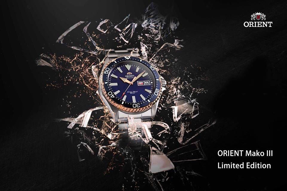نقدم لكم أحدث واجمل ساعة رياضية من ساعات أورينت اليابانية الأصلية على مستوى العالم Orient Mako Iii Limited Edition وهي نسخة مح Orient Watch Watches Orient